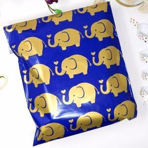 20 10x13 elephant design poly mailer